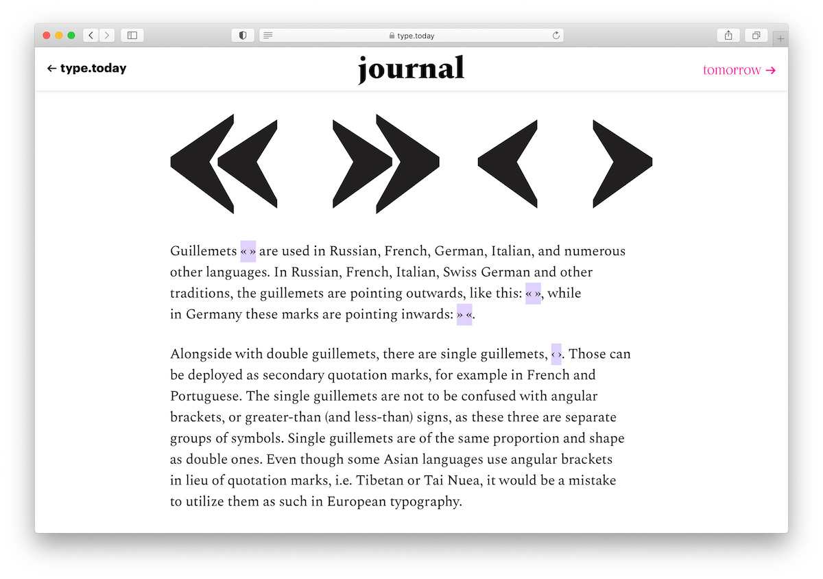 Type.Today Journal