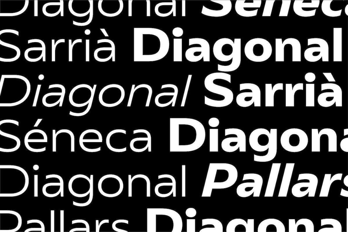 Morillas Sans typeface graphic