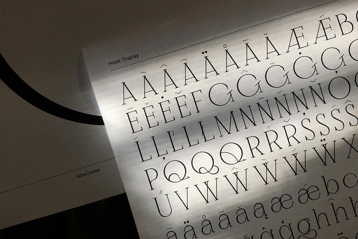 Hook Display by freelance type designer Jo Malinis