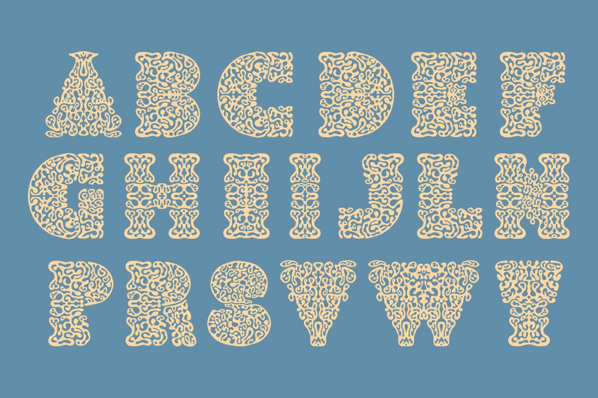 Type by freelance type designer Anne-Dauphine Borione