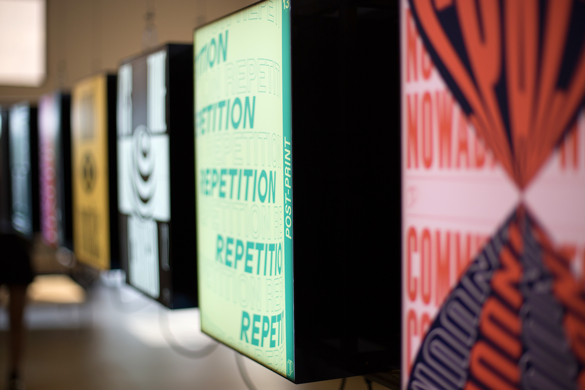 Image from Post-print AR/Graphic Design poster exhibition by Serafim Mendes & Mecha Studio.