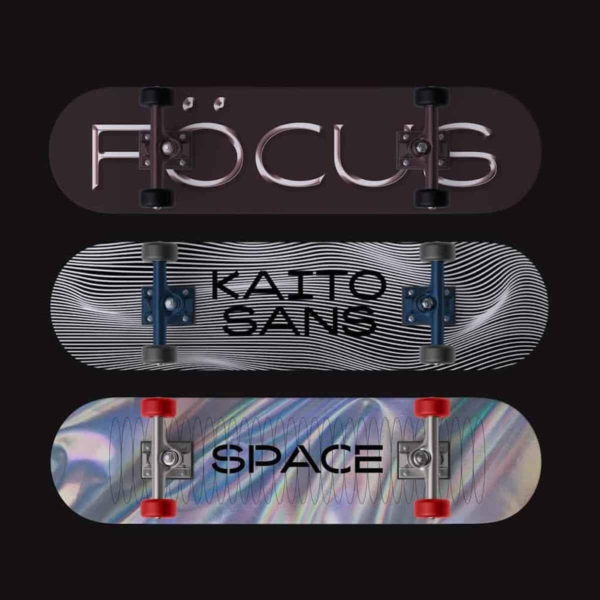 Kaito Sans typeface –new typefaces on Type Department