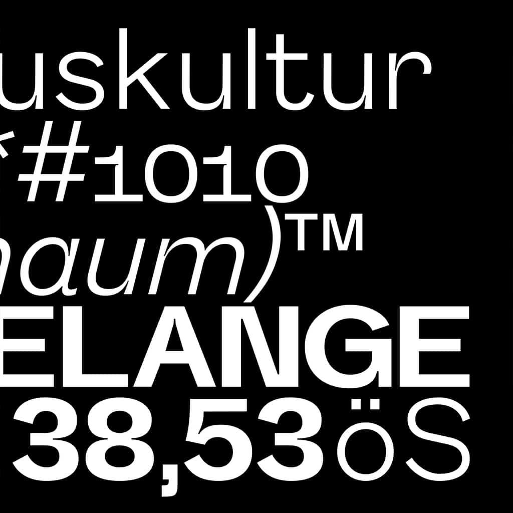 Melange typeface –new typefaces on Type Department