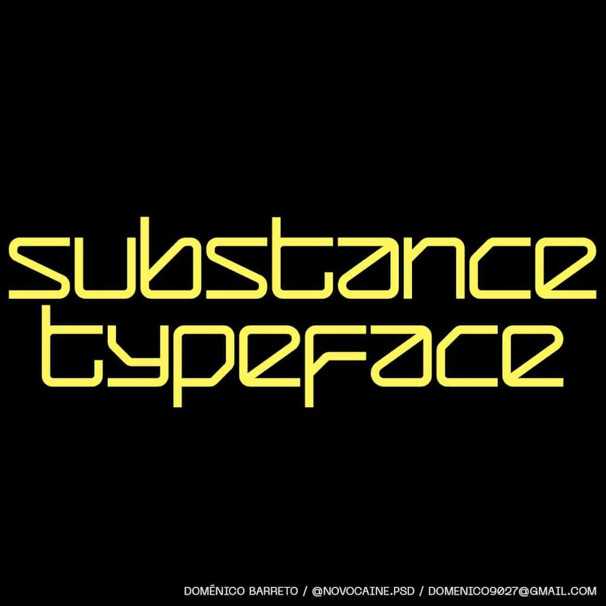 Substance Typeface – new typefaces on Type Department