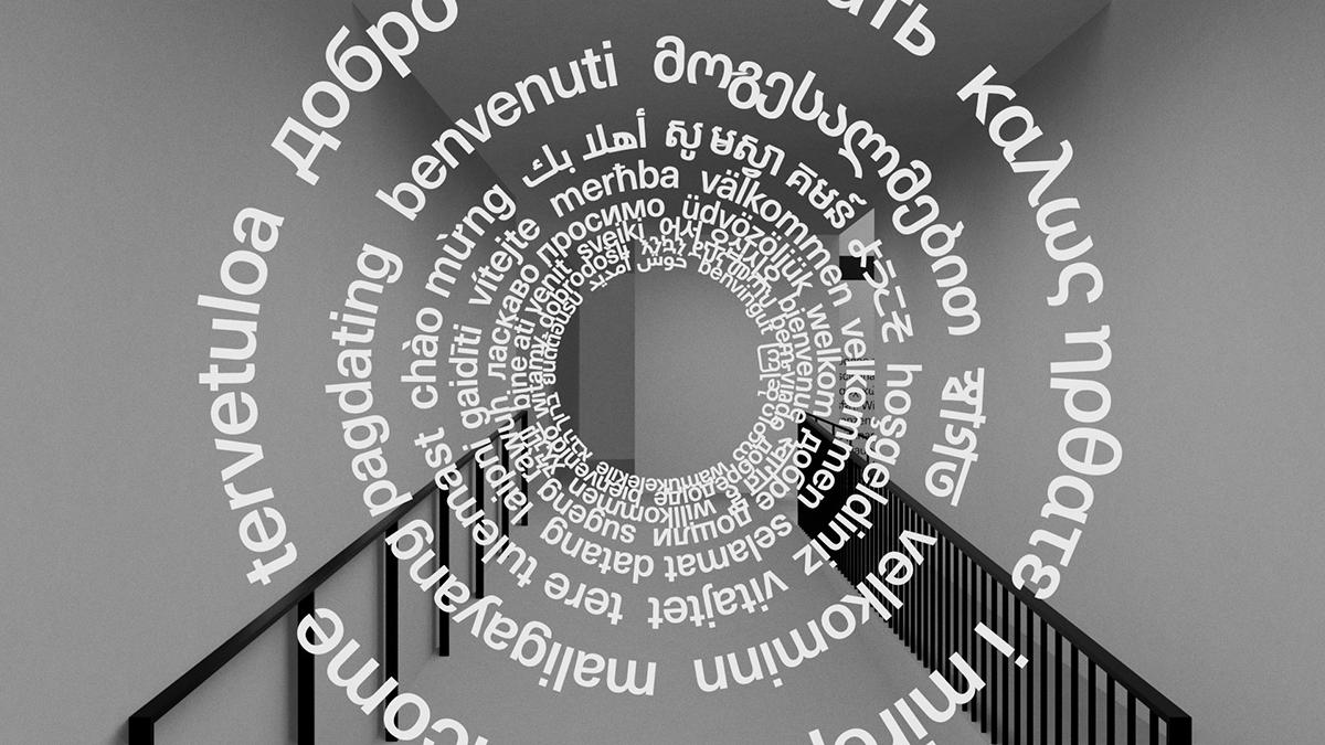 Multi-script AR Installation from Filipe Peregrino's The Languages Around Us
