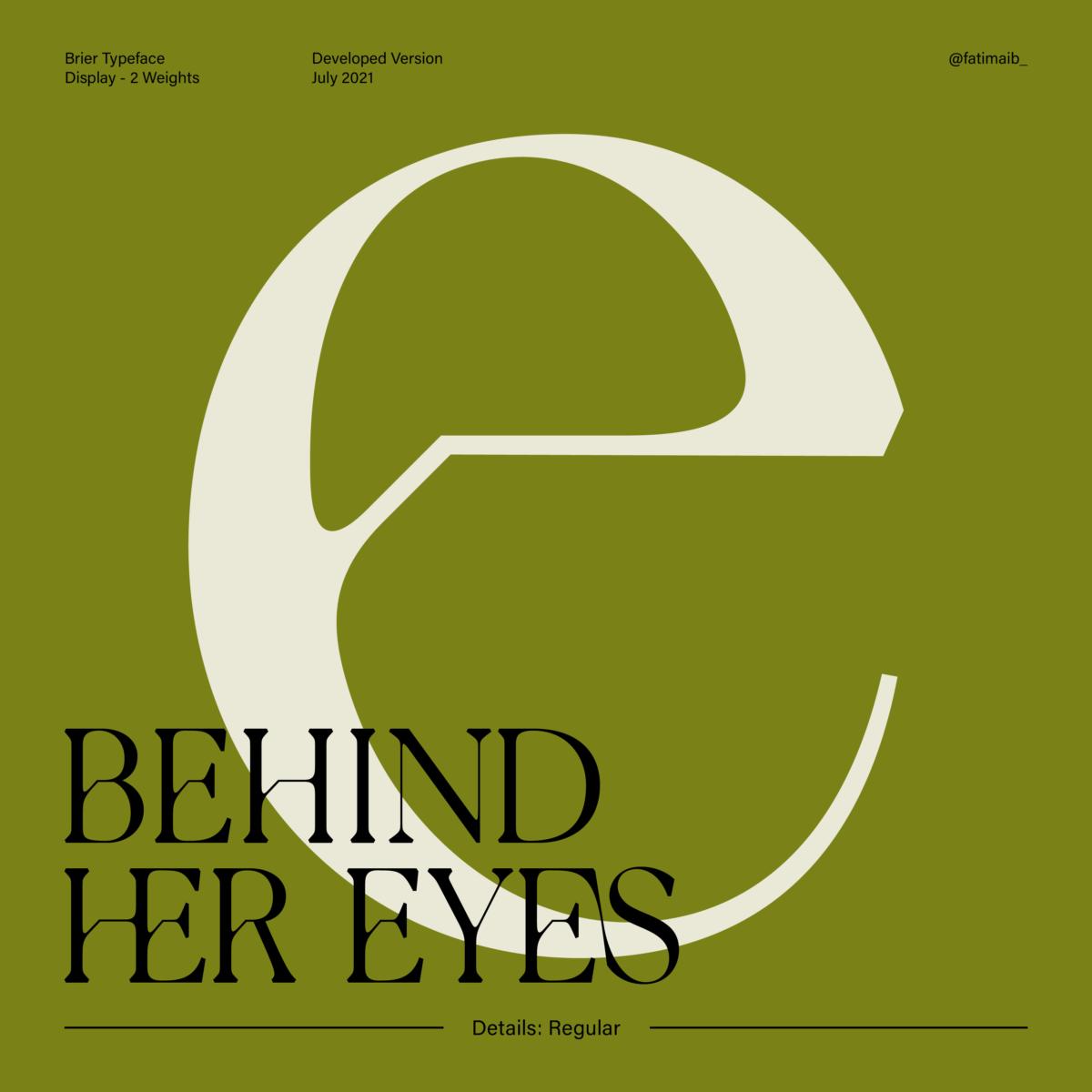 Brier typeface by Fatima Abbas – Details